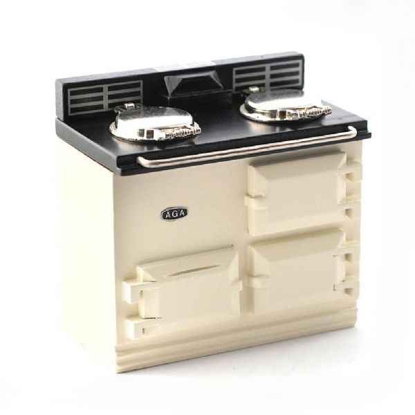 Reutter cream Aga style dolls house stove. 779/6